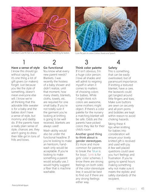 KNITmuch | Issue 01