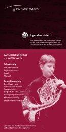 Ausschreibung 2006 43. Wettbewerb Jugend ... - Chancen NRW