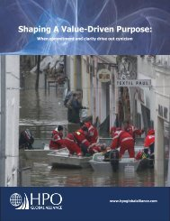 Shaping A Value-Driven Purpose Brochure