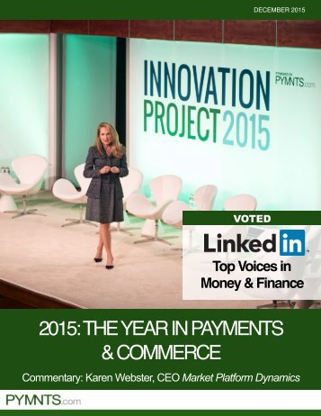 2015 THE YEAR IN PAYMENTS & COMMERCE