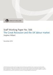 Staff Working Paper No 566 The Great Recession and the UK labour market
