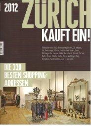 Zürich kauft ein – 2012 - Ines Boesch