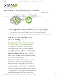 Get counts and samples of  companies who use EMC ApplicationXtender from Span Global Services