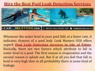 Pool Leak Detection and Repair