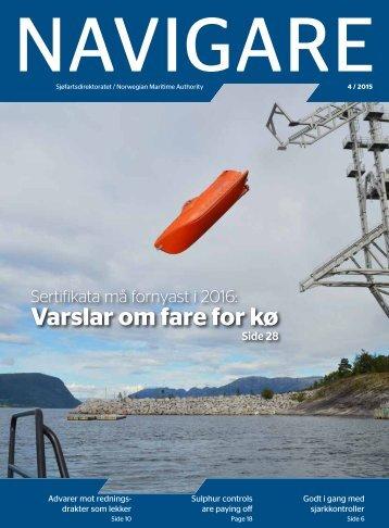Navigare nr 4/2015 Sjøfartsdirektoratets tidsskrift