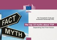 The top 10 myths about TTIP