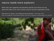 nature needs more explorers