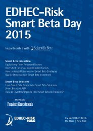 EDHEC-Risk Smart Beta Day 2015