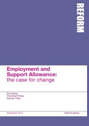 Employment and Support Allowance the case for change