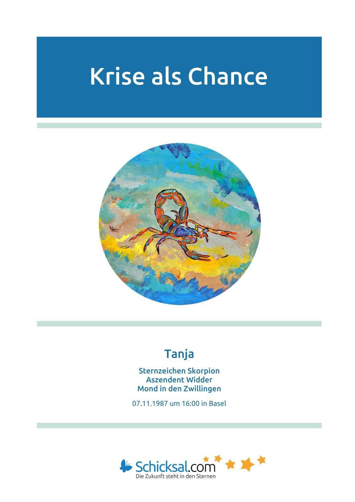 Skorpion -  Krise als Chance