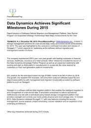 Data Dynamics Achieves Significant Milestones During 2015