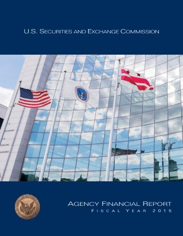 Agency FinAnciAl RepoRt