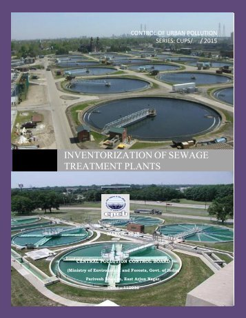 INVENTORIZATION OF SEWAGE TREATMENT PLANTS