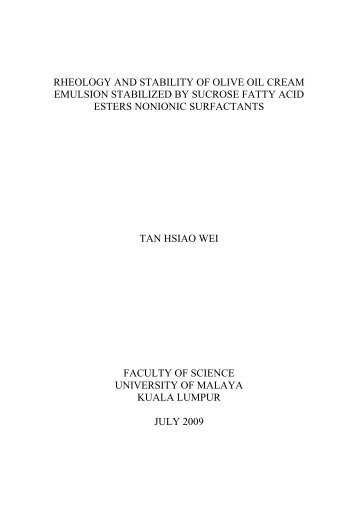 Universiti Malaya Thesis Template