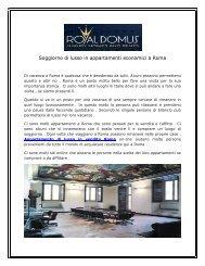 Soggiorno di lusso in appartamenti economici a Roma
