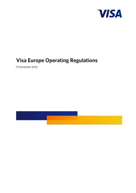 Visa Europe Operating Regulations