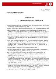 18. jahrhundert und goethezeit - Bibel und Literatur