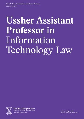 Ussher Assistant Professor in Information Technology Law
