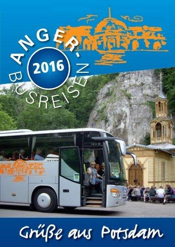 Anger-Busreisen - Reisekatalog 2016