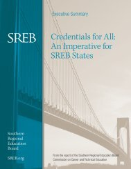 Credentials for All An Imperative for SREB States