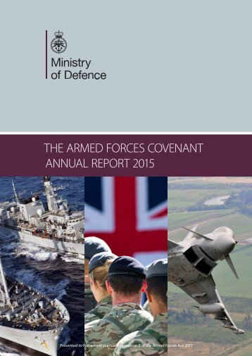 THE ARMED FORCES COVENANT ANNUAL REPORT 2015
