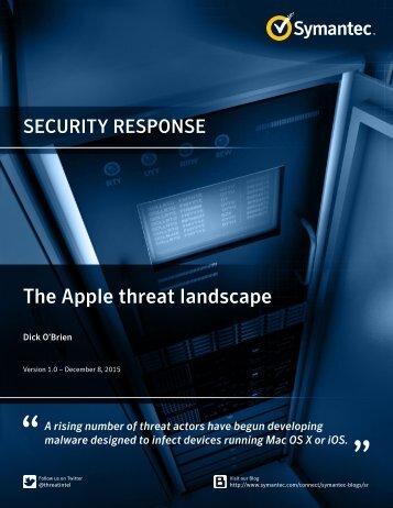 The Apple threat landscape