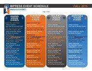 IMPRESS Event Schedule, Fall 15-BRAVO