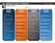 IMPRESS Event Schedule, Fall 15-ALPHA