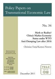 Myth or Reality? China's Market Economy Status under WTO Anti ...