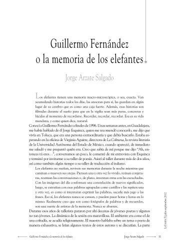 Guillermo Fernández o la memoria de los elefantes