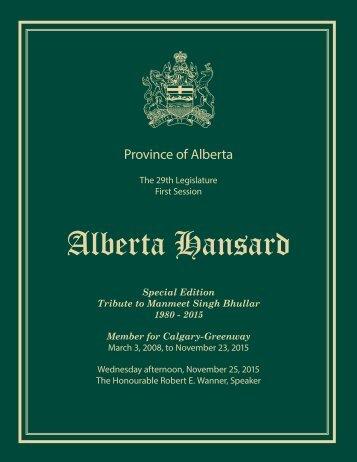 Alberta Hansard