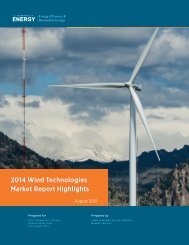 2014 Wind Technologies Market Report Highlights