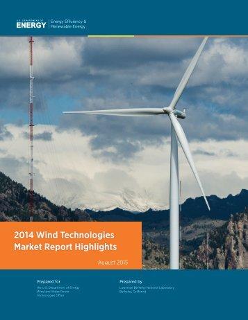 2014 Wind Technologies Market Report Highlights