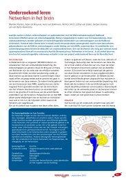 Onderzoekend leren Netwerken in het brein