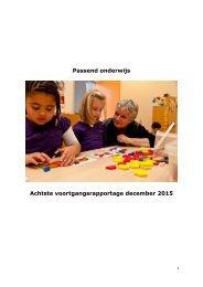 Passend onderwijs Achtste voortgangsrapportage december 2015