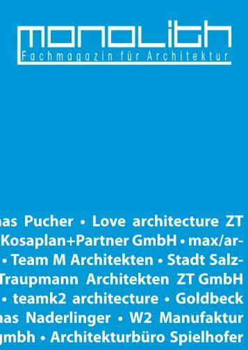 Genuss - Architektur - Genuss - Architektur - Genuss