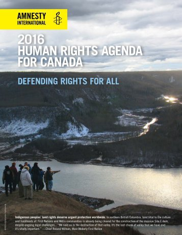 2016 HUMAN RIGHTS AGENDA FOR CANADA