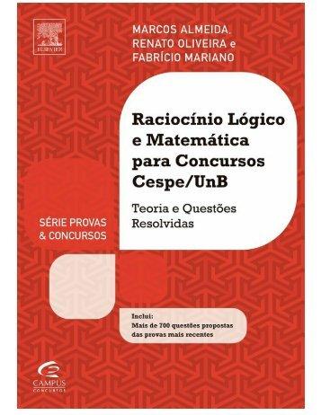 Raciocinio Lógico e Matematica para concursos - CESPE.UNB - Fabricio Mariano - 2013