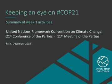 Keeping an eye on #COP21