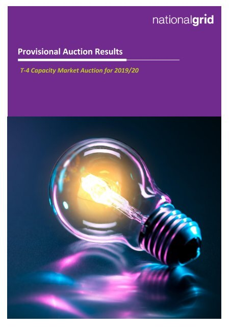 Provisional Auction Results
