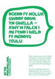rwy'n falch i mi fynd i weld fy meddyg teulu - Macmillan Cancer ...