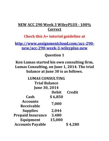 Week five acc 280 final exam