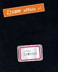 CARE affair #3_Lernen