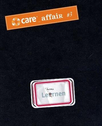 CARE affair #3_Lernen