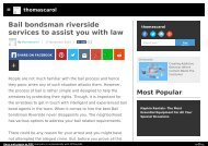 Bail bondsman riverside services to assist you with law