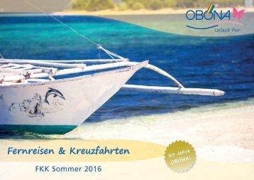 Sommer 2016 Fernreisen und Kreuzfahrten 2016