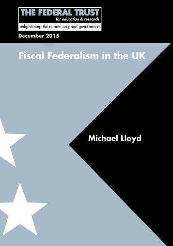 Fiscal Federalism in the UK