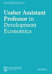 Ussher Assistant Professor in Development Economics