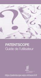 PATENTSCOPE Guide de l'utilisateur