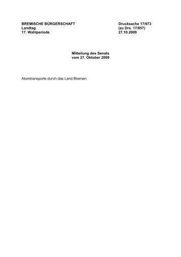 Transport von Kernbrennstoffen (nach § 4 Atomgesetz)